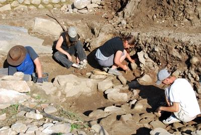 Excavation site in Romania