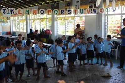 A group of school children at a Projects Abroad Care placement in Apia, Samoa