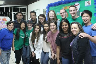 A group of Projects Abroad HIV/AIDS volunteers in Mexico