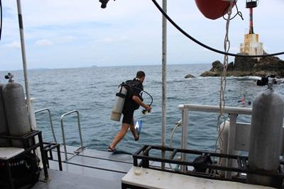 Volunteers on the Conservation project participate in dives