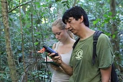 Conservation volunteer in Peru conducts wildlife surveys