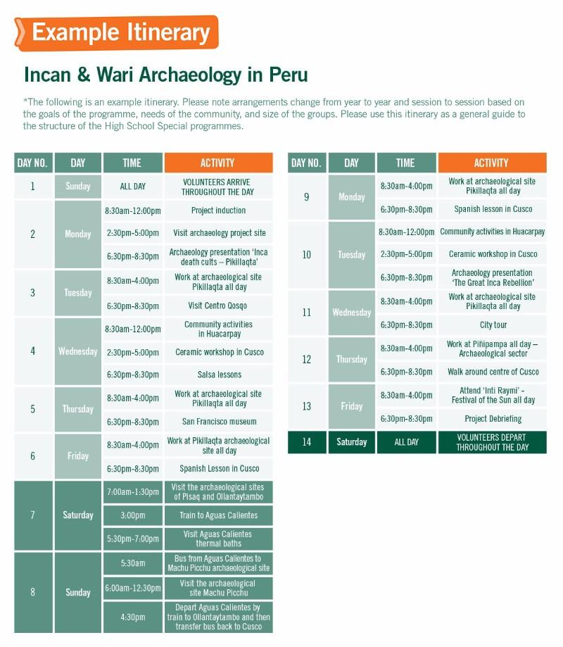 Short-term Special Volunteer Trips with Inca Project and Archaeology in Peru